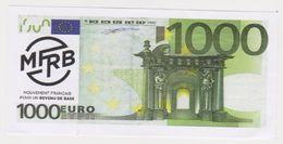 Rennes 35 France -billet 1000 Euros -mouvement Francais Revenu Base -faux - EURO