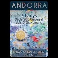 Andorra 2euro Cc  -  70ª Declaración Universal De Derechos Humanos -  2018   UNC - Andorra