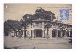 Jolie CPA, Hendaye (Pyrénées-Atlantiques), Arceaux, Bureau De Poste De La Plage, A Voyagé - Hendaye