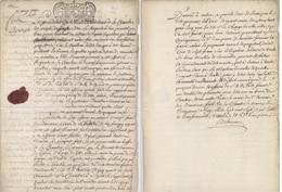 Généralité Lorraine Et Barroise Lièpvre Vallée De Ste Marie Nancy 1707 - Cachets Généralité