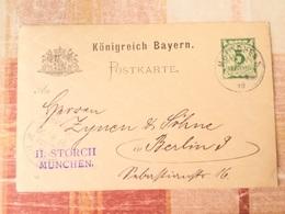 FL2849 Bayern Ganzsache Stationery Entier Postal P 44/04 Von München Nach Berlin - Bavaria