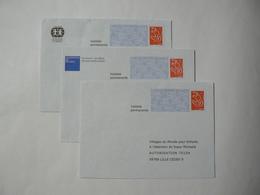 Prêt à Poster Réponse, Lamouche ITVF, 3 Enveloppes Neuves, TB. - Entiers Postaux