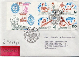 Postal History: Spain R Cover - World Cup