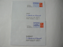 POSTREPONSE, Lamouche Phil@poste, 20g, 2 Enveloppes Neuves, TB. - Entiers Postaux