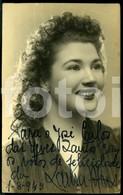 1945 REAL PHOTO FOTO SIGNED POSTCARD SIZE LAURA ALVES ACTRIZ TEATRO CINEMA PORTUGAL CARTE POSTALE - Theatre