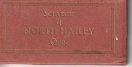 """Souvenir Fold Out Picture Booklet Of North Hatley, Quebec 12 Pictures 3.5"""" X 1.8""""  9cm X 4.7 Cm - Tourism Brochures"""