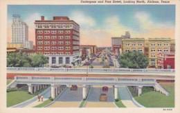 Texas Abilene Underpass And Pine Street Looking North Curteich - Abilene