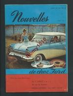 Automobiles. Catalogue Publicitaire Voitures FORD 1959. N°1. Offert Par F. Spirler Verviers. 7 Scans - Vieux Papiers