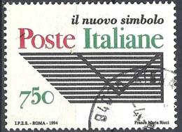 """Italia, 1994 Ente """"Poste Italiane"""", 750L # Sassone 2134 - Michel 2354 - Scott 2010  USATO - 1946-.. République"""