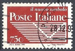 """Italia, 1995 Ente """"Poste Italiane"""", 750L # Sassone 2194 - Michel 2413A - Scott 2059  USATO - 1946-.. République"""