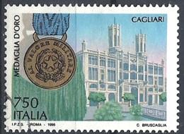 Italia, 1995 Cagliari Medaglia D'Oro, 750L # Sassone 2153 - Michel 2373 - Scott 2022F  USATO - 1946-.. République