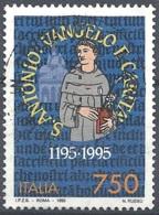 Italia, 1995 Sant'Antonio Da Padova, 750L # Sassone 2174 - Michel 2394 - Scott 2040  USATO - 1946-.. République