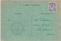Carte Commerciale 1944 / A. COULET /Bottier / 25 Reugney - Cartes