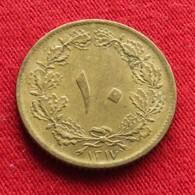 Iran 10 Dinars 1938 / SH 1317 KM# 1139 Lt 776  Irão Persia Persien - Iran