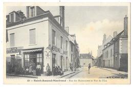 SAINT AMAND MONTROND (18) Rue Des Marmousets Et Rue De L'Ecu Devanture De Commerce - Saint-Amand-Montrond