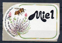 """ETIQUETTE - POT DE MIEL - """"Miel Récolté Et Mis En Pot Par L'apiculteur - Poids Net 1kg"""" - - Autres Collections"""