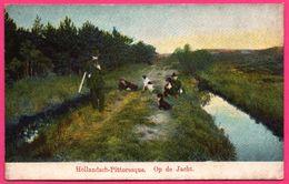 Cpa - Hollandsch Pittoresque - Op De Jacht - Chasseurs - Fusil - Colorisée - Jacht