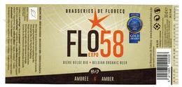 Etiquette Bière Flo58 33 Cl, Brasseries De Flobecq Bier Etiket Beer New Label - Bière