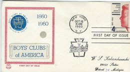 Boys`Clubs Of America. Fdc.   United States.  H-396 - Childhood & Youth