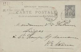 Carte Commerciale 1898 / Entier / Louis LE DANTEC / Tapissier / 33 Place Thiers / 29 Morlaix - Cartes
