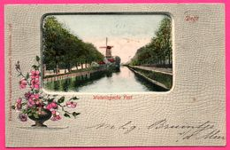 Cpa - Delft - Wateringsche Vest - Molen - Moulin - Uitg. KOSMOS - Oblit. A 142 - 1903 - Colorisée - Delft