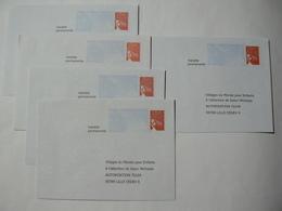 PRET à Poster Réponse, Luquet RF, 5 Enveloppes Neuves, TB. - Entiers Postaux
