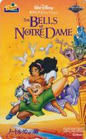 RARE Télécarte Japon / 110-016 - DISNEY Video - BELLS OF NOTRE DAME / NOT FOR SALE - Movie Japan Phonecard / NFS - Disney