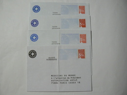 PRET à Poster Réponse, Luquet RF, 4 Enveloppes Neuves, TB. - Entiers Postaux