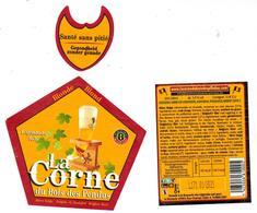 Etiquette Bière La Corne Du Bois Des Pendus 33 Cl Brasserie D'Ebly Bier Etiket Beer Label Front + Back + Collar - Bière