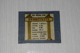 Lanterne Magique Projecteur Aspect Mazo Pédagogique Verre Enseignement Cours Résistivité Ohm - Autres Collections