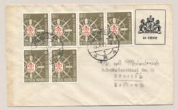 Nederlands Indië - 1947 - 10 Cent Fantasie Envelop In 1961 Verzonden Van Djokjakarta Naar Haarlem / Nederland - Nederlands-Indië