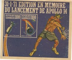 31-1-71 Edition En Memoire Du Lancement De Apollo 14.  Gabon.  # 857 # - Old Paper