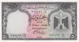 EGYPT 50 PT 1966 P-36 Sig/ ZENDO #10 UNC  */* - Egypt