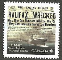 Sc. #3050 Halifax Explosion Single Used 2017 K020 - 1952-.... Règne D'Elizabeth II