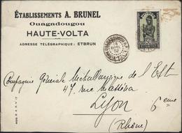 Haute Volta Lettre Ets A Brunel Ouagadougou YT 54 Type C 5c0ct CAD Ouagadougou Haute Volta 4 Avril 1932 - Upper Volta (1920-1932)