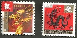Sc. #2495 & 92 Chinese New Year Pane & Booklet Pair Used 2012 K001 - 1952-.... Règne D'Elizabeth II