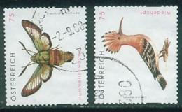 2008 - 2754/55 - ° -  Gierschutz Hummelschwärmer , Wiedehopf - 1945-.... 2. Republik
