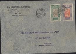 YT 86 73 Guinée AOF Enveloppe Ed Burki Lestel Conakry Guinée Française CAD Conakry 10 Sept 33 - Lettres & Documents