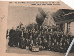 "WECHELDER-ZANDE..1935..DE KONINKLIJKE HARMONIE"" ST. AMELBERGA "" VIERDE GOUDEN JUBELFEEST - Documentos Antiguos"