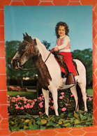 Cavallo Horse Pony Bambina Cartolina 1962 - Cavalli