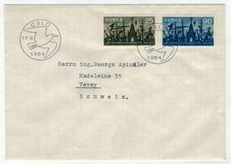Norvège // Norge // Lettre Pour La Suisse 1er Jour 17.08.1964 - Norway