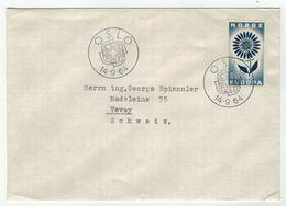 Norvège // Norge // Lettre Pour La Suisse 1er Jour 14.09.1964 - Norway