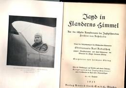 """Militaria 1. Weltkrieg Buch Von 1935 """"Jagd In Flanderns Himmel"""" über Freiherr Von Richthofen - Deutsch"""