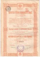 Ancienne Action - Verreries Et Usines Chimiques De Donetz à Santourinovka - Titre De 1920 - Russie