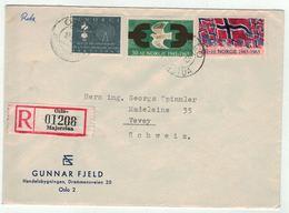 Norvège // Norge // Lettre Recommandée Pour La Suisse 1er Jour 10.05.1965 - Norway