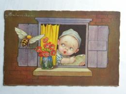 CPA Illustrateur Colombo - Enfant à La Fenêtre Et Abeille - Colombo, E.