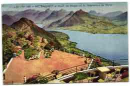 Lac D'Annecy Et Massif Des Bauges Vus Du Téléphérique De Veyrier - Veyrier
