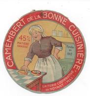 ETIQUETTES DE FROMAGE CAMEMBERT BONNE CUISINIERE Laiterie Cooperative De Noyant - Fromage