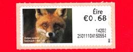 Nuovo - MNH - IRLANDA - EIRE - 2013 - Animali E Vita Marina  - Volpe - Red Fox (Vulpes Vulpes) - 0.68 - Affrancature Meccaniche/Frama