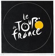 Tour De France 2018 - Autocollant Rond Fond Noir Vélo Sport Cyclisme Cycliste - Ciclismo